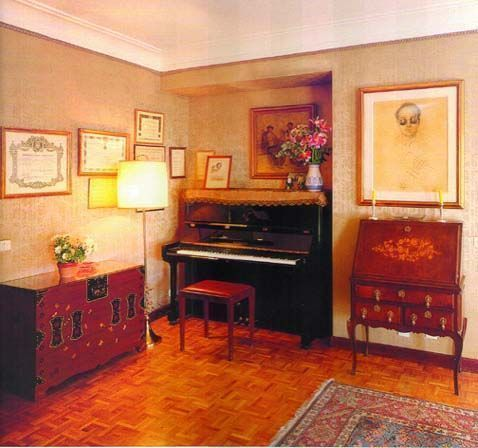Photo of Joaquín Rodrigo's study area